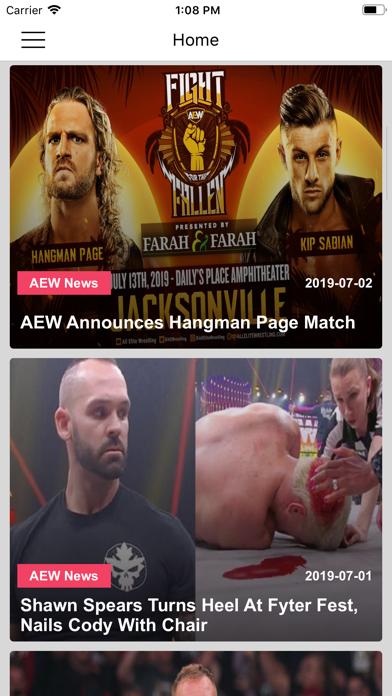 Pro Wrestling News Hub screenshot one