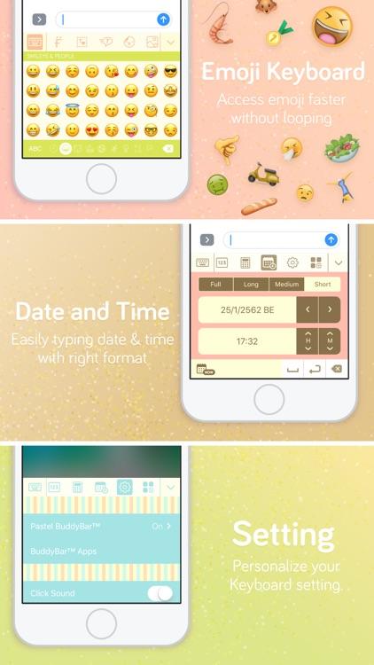 Pastel Keyboard Themes Color screenshot-7