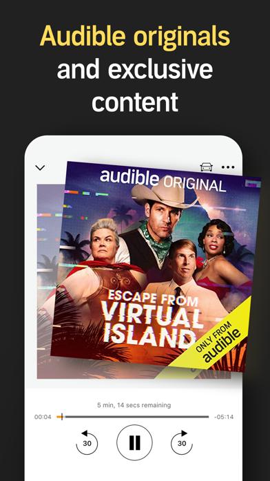 Audible Audio Books Stories review screenshots