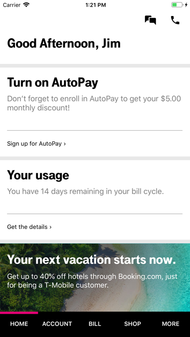 cancel T-Mobile app subscription image 1