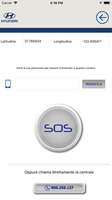 Screenshot of Hyundai Assistenza Stradale2