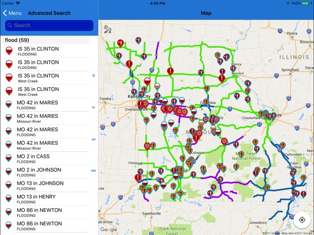 MoDOT Traveler Information on the App Store on illinois route map, illinois weather map, illinois hospitals map, illinois hiking map, illinois political map, chicago illinois map, illinois travel map, illinois population density map, illinois interstate highway map, illinois fishing map, illinois driving map, illinois real estate map, illinois highway map printable, illinois airport map, illinois expressway map, illinois points of interest map, illinois camping map, illinois precipitation map, illinois highway map roads, illinois rest areas map,