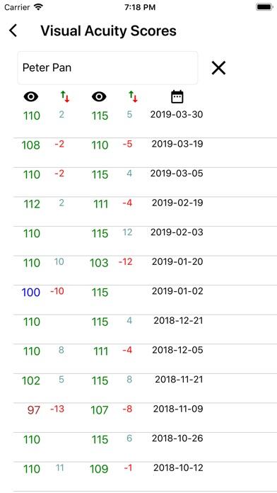 Visual Acuity Charts Screenshots
