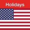 US Holidays - cals with flags - iPadアプリ