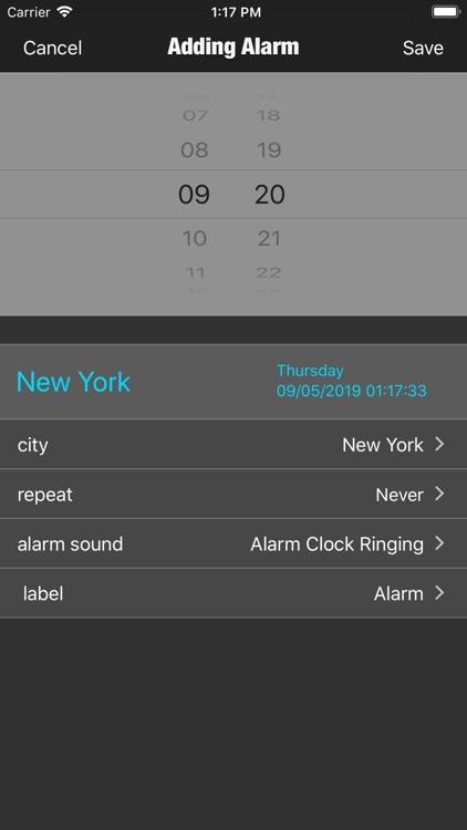 TZ Alarm - Set Clock Anywhere screenshot-3