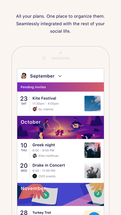 IRL - Social Calendar Screenshot