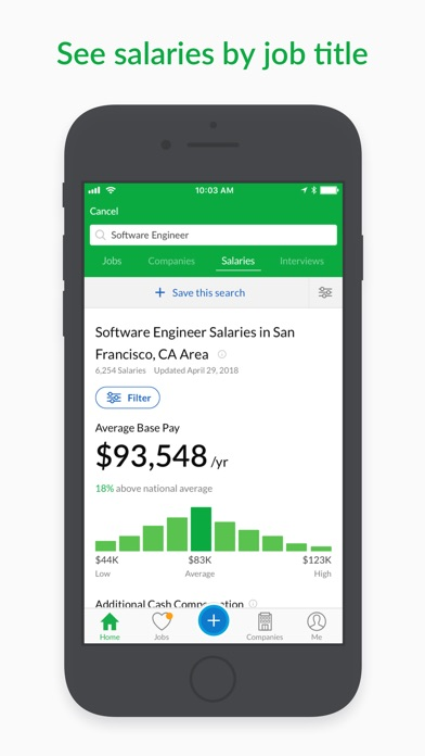 Glassdoor Job Search Screenshot on iOS