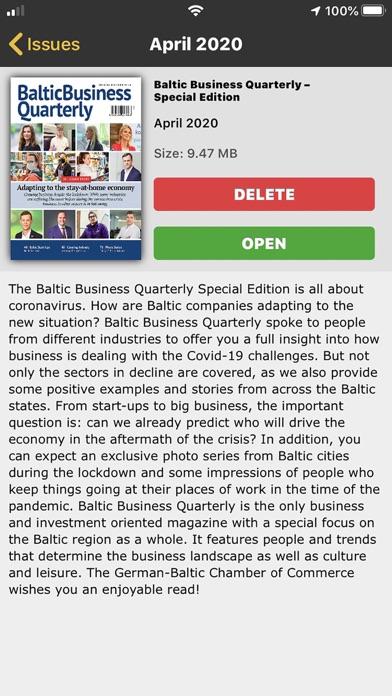 Baltic Business QuarterlyScreenshot of 2
