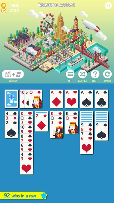 サクッとソリティアシティ screenshot1
