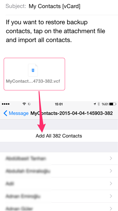 My Contacts Backup Proのおすすめ画像3