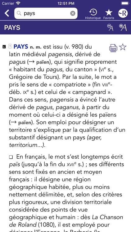 Dictionnaire Robert Historique screenshot-6