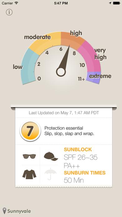 Screenshot #2 pour UVmeter - Check UV Index