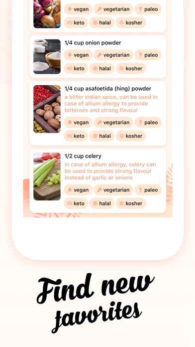 Substitutions   Diet & AllergyScreenshot of 3