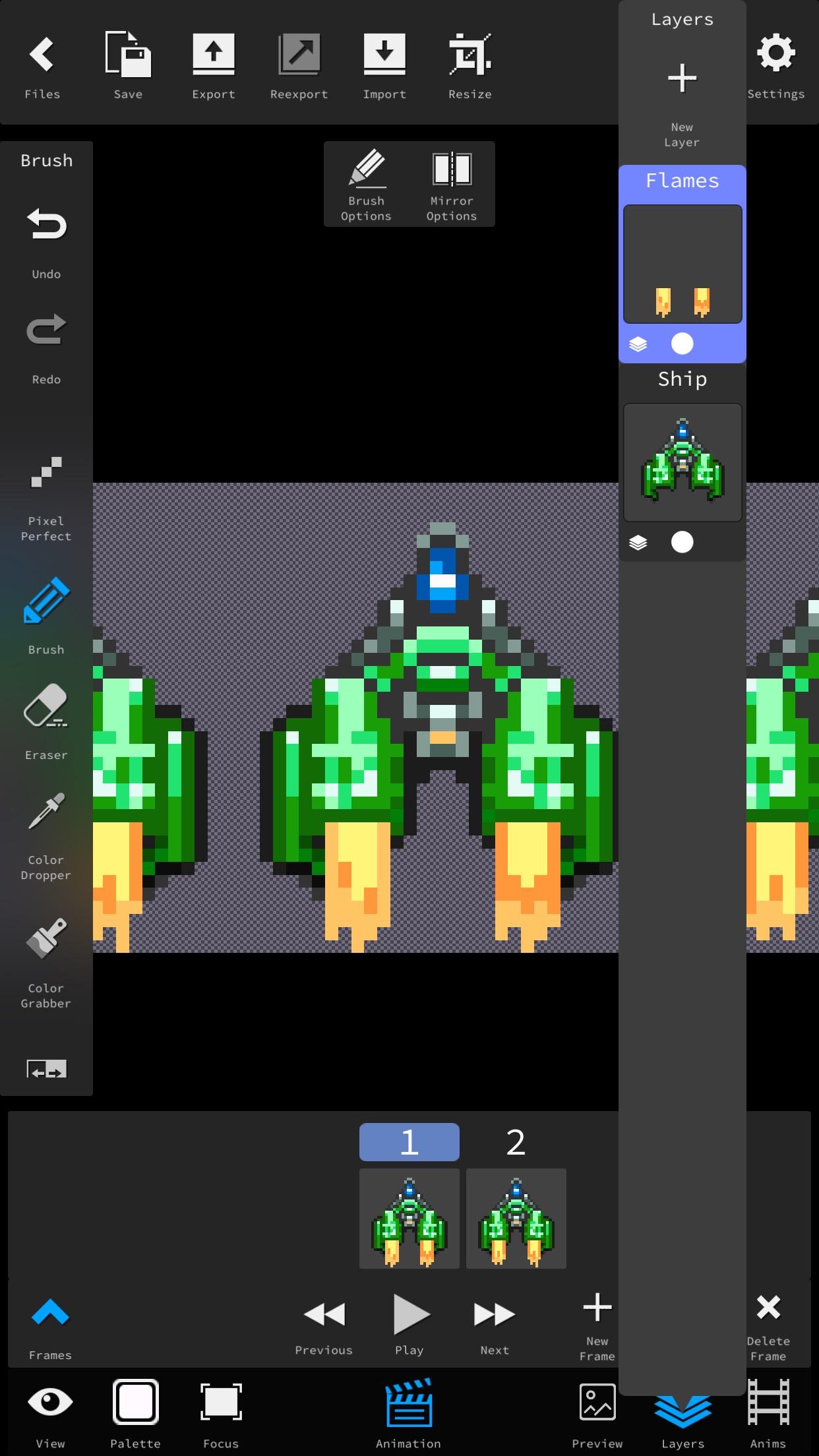 Screenshot do app Pixie Studio - Pixel Editor