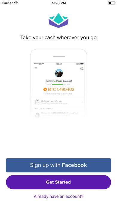 Bitbit - Bitcoin & Cash Wallet screenshot one