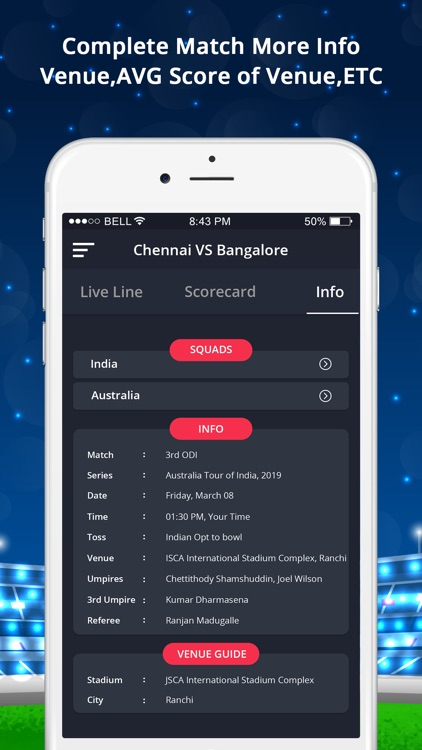 LineGuru : Cricket Live Line screenshot-4