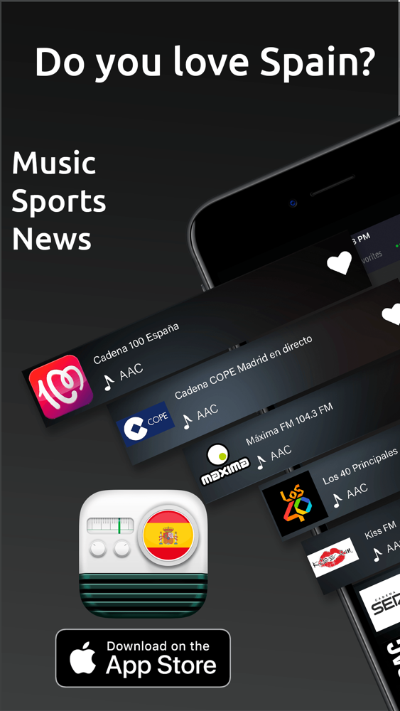 Radio Spain: Spanish FM AM App for iPhone - Free Download