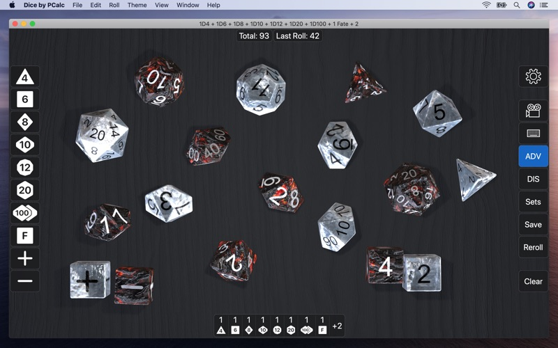 Dice by PCalc for Mac