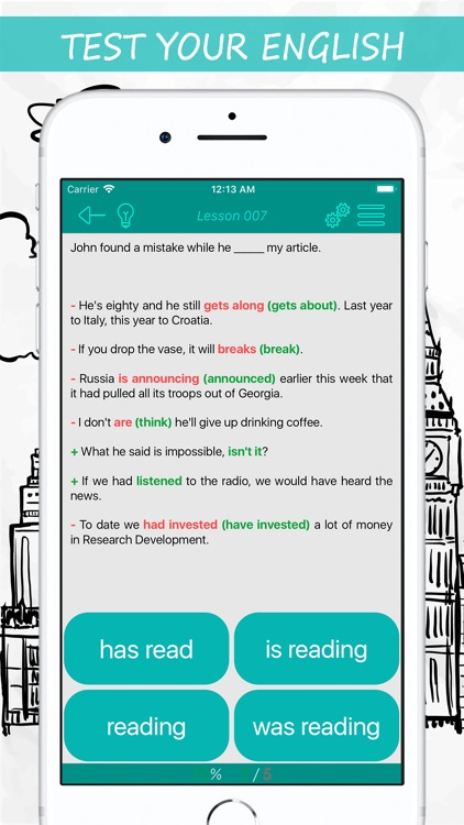 English Tests: Verbs screenshot-3
