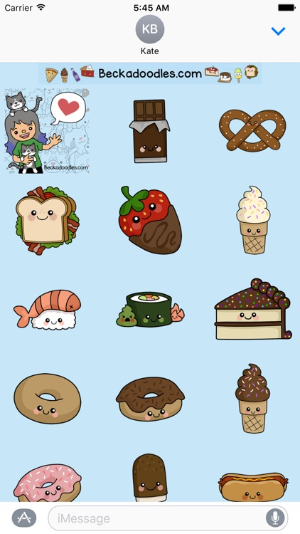 Cute Food-Art of Cute Stickers