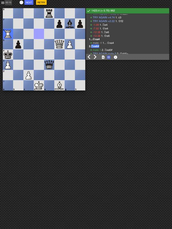 Ipad Screen Shot Chess Tempo: Chess tactics 0