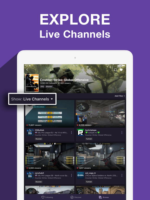 Twitch: Live Game Streaming-ipad-5