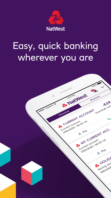 NatWest Mobile Banking screenshot one