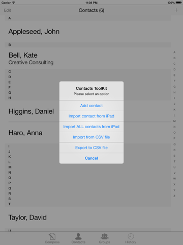 Скриншот из Bulk SMS Text message Pro