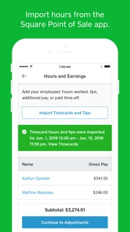 Square Payroll iphone images