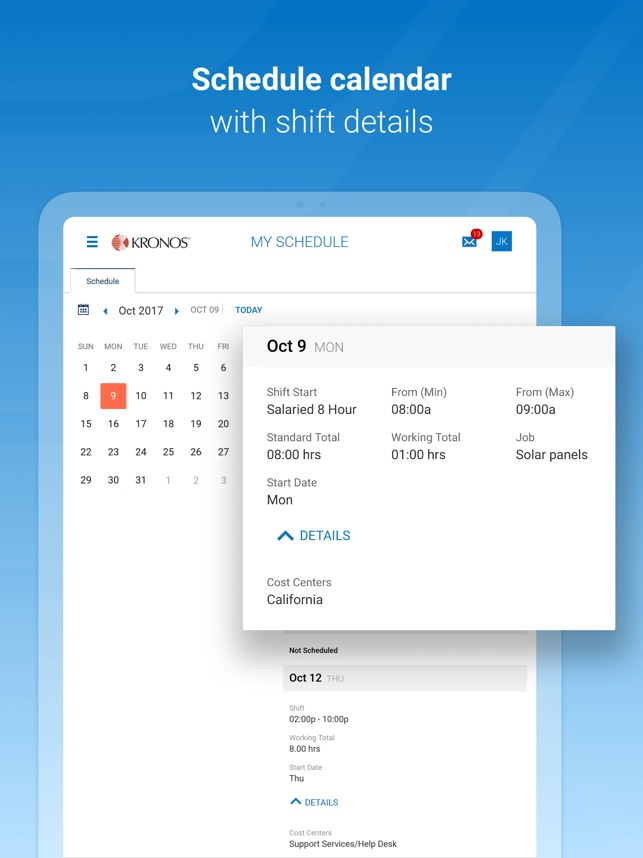 Kronos Workforce Ready Mobile on the App Store