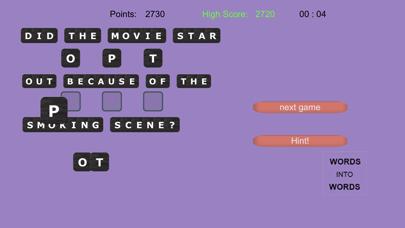 WORDS into WORDS screenshot 11