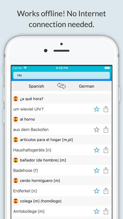 Spanish-German Dictionary + screenshot 1