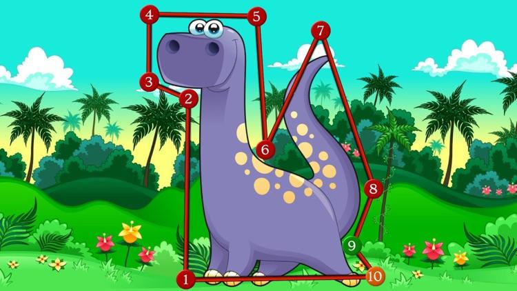 Dino Dot Connect dots for kids screenshot-3