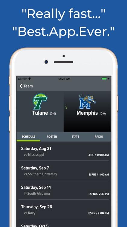 Tulane Football Schedules screenshot-8