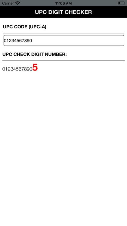 UPC Digit Checker