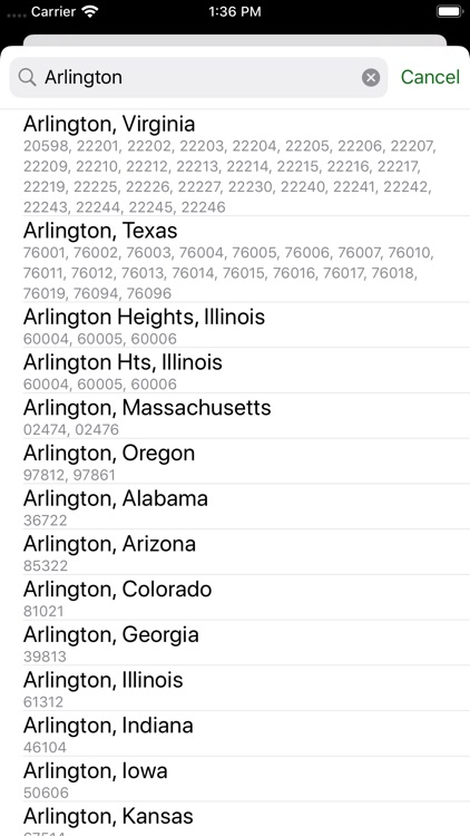 Zip Codes screenshot-1