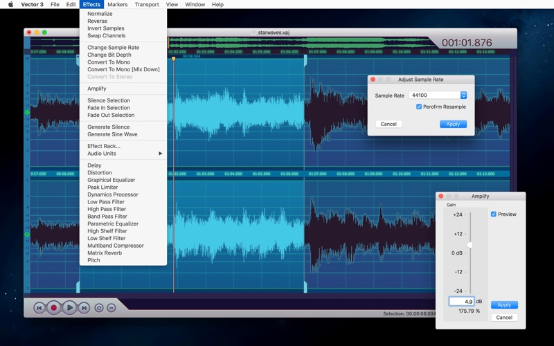 Vector 3 - Record & Edit Audio Screenshot 6
