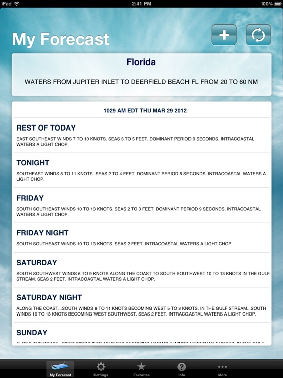 Boating Weather for iPad