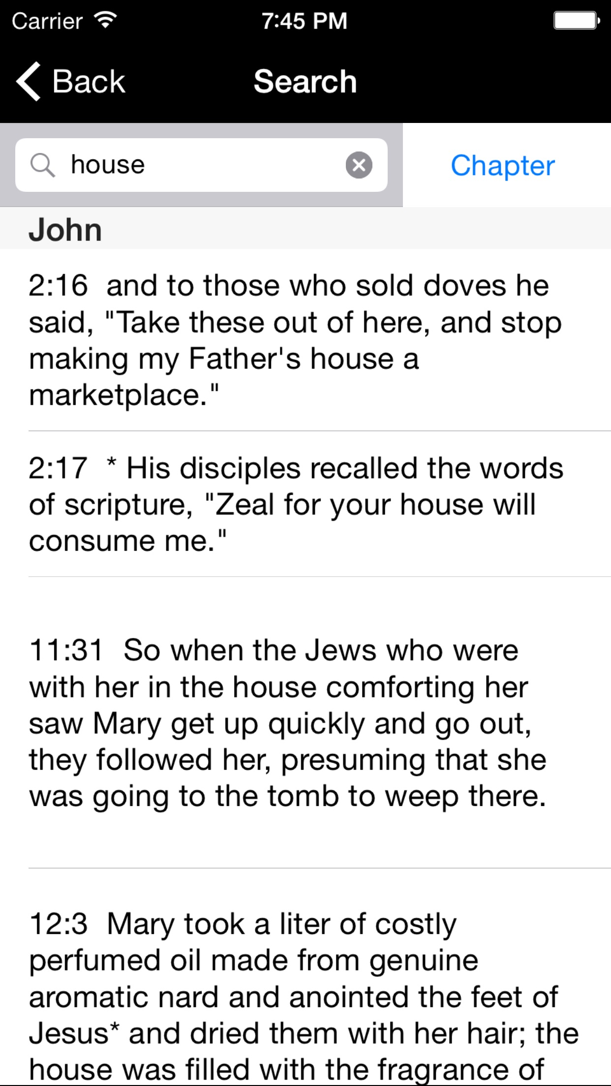 Catholic New American Bible RE Screenshot