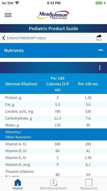 MJN Pediatric Product Guide screenshot-4