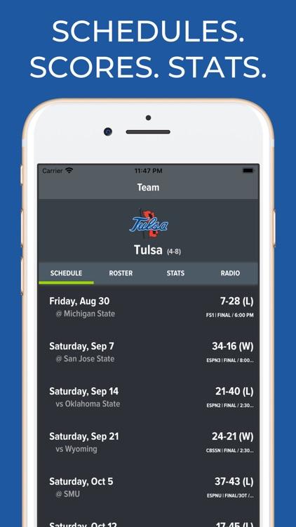 Tulsa Football Schedules