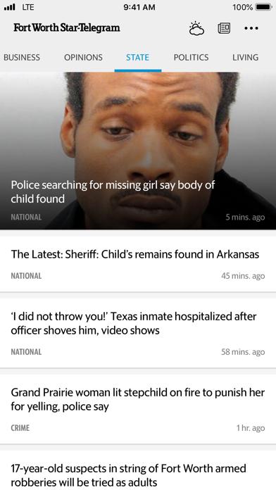 Fort Worth Star-Telegram News Screenshot