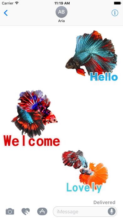 Animated Fighting Fish Sticker screenshot 1
