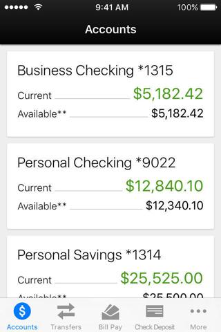 RFCU Mobile Banking - náhled