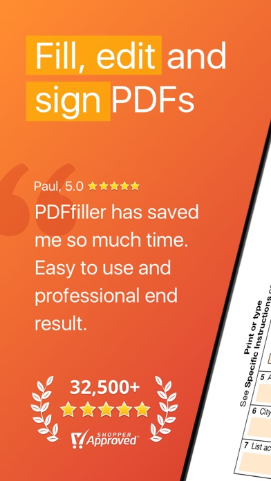 PDFfiller: Edit and eSign PDFs Screenshot