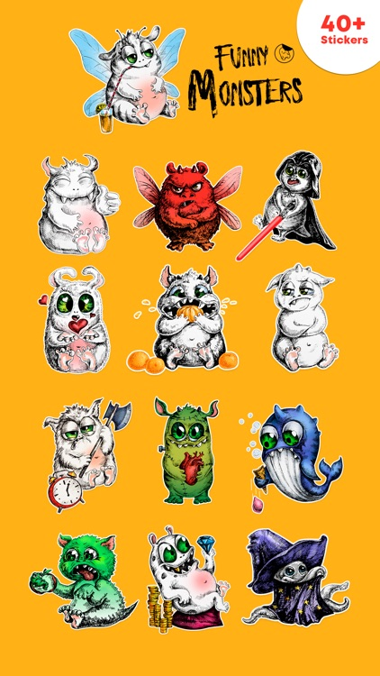Beautiful Monsters - Stickers screenshot-3
