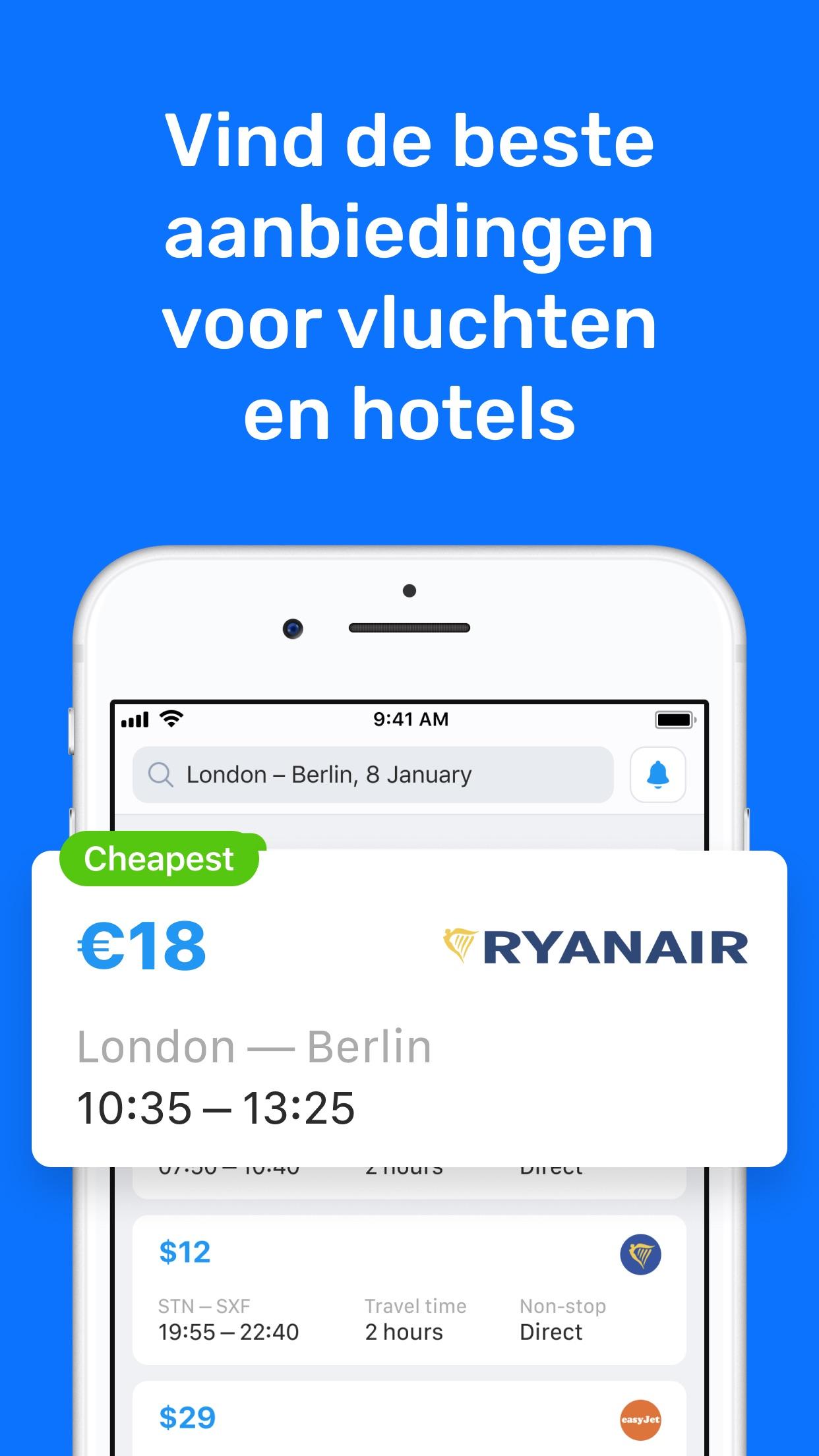 Vliegtickets—goedkope vluchten Screenshot