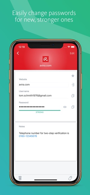 Avira Password Manager on the App Store