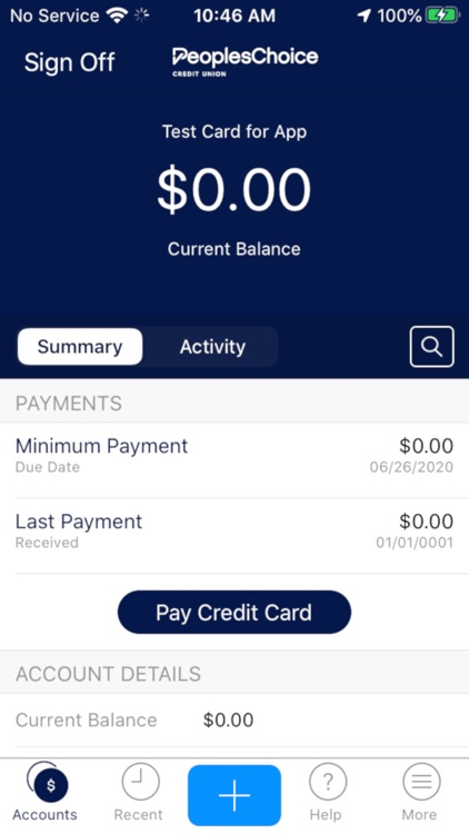 PeoplesChoice VISA Credit Card