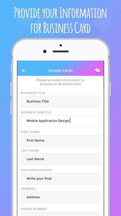 Screenshot of iBusiness Card Maker2
